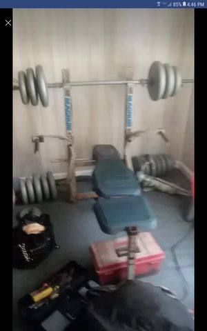 Weights and bench for Sale in Verbena, AL