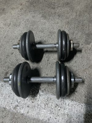 Dumbbells set 57 lbs Each 28,5 Total 57b for Sale in Beverly Hills, CA