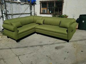 NEW 7X9FT PAULINE LIME FABRIC SECTIONAL COUCHES for Sale in San Clemente, CA