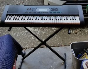 Casio keyboard with stand. ( see description) for Sale in Vallejo, CA