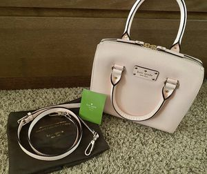 Brand New Kate Spade Wellesley Alessa Satchel Hand Bag in Very Light Pink w/ Kate Spade Dust Bag for Sale in Pomona, CA