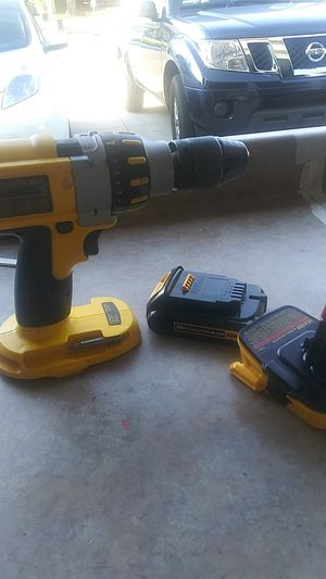 Dewalt DC925 18V XRP 1/2in Drill/Driver Hammer Drill 20V battery and adapter for Sale in Hemet, CA