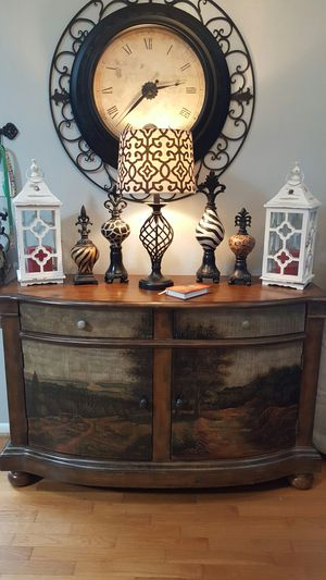 gorgeous ornate console entry table sold wood heavy for Sale in Richmond, VA