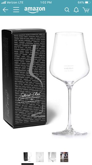 Gabriel Glas Universal Crystal Wine Glass (Wine Folly Special Edition) Made in Austria for Sale in Palo Alto, CA