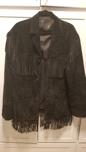 Men's Carroll Leather Fringed Coat for Sale in Lexington, NC