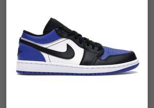 Jordan 1 Low, blue toe size 8 for Sale in Riverview, FL