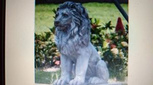 Hi Line sitting Lion Statue for Sale in Warren Park, IN