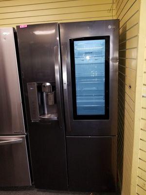 """LG 36""""wide new Open box side by side dark stainless steel refrigerartor 6months warranty for Sale in McDonogh, MD"""