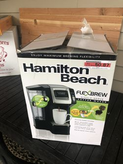 Hamilton Beach FLEX Brew. Uses Kcups or standard filter. Missing lid on Water tank for Sale in Puyallup,  WA