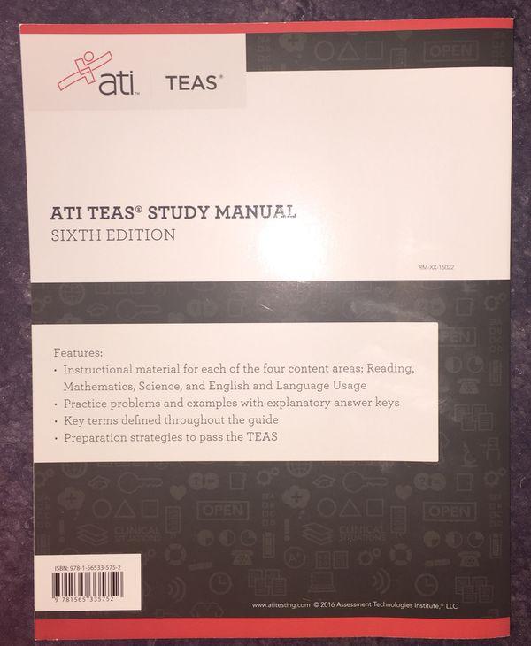 ATI TEAS Study Manual 6th Edition for Sale in Garden Grove, CA - OfferUp