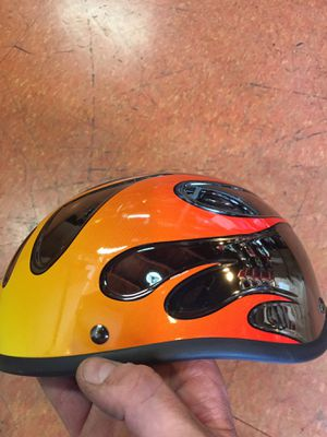 New novelty flames half motorcycle helmet $20 for Sale in Whittier, CA