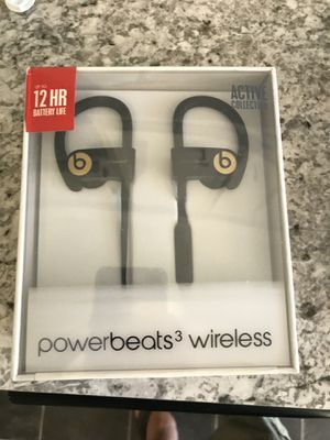 Powerbeats 3 wireless trophy gold for Sale in Virginia Beach, VA