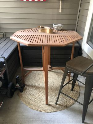 Foldable wood high top table for Sale in Manassas, VA
