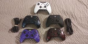 Lot of 5 Wired XBox One Controllers for Sale in Seekonk, MA
