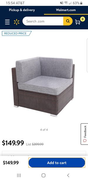 Outdoor Wicker Corner Sofa Sectional for Sale in Fresno, CA