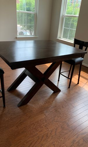 Kitchen/ dining room table for sale. Pic is closed up but can open up to larger table for Sale in Gaithersburg, MD