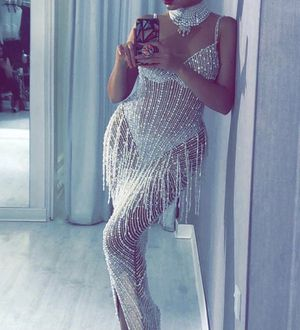 """Sexy Wedding Or Engagement Dress HAUTE COUTURE """" SWAROVSKI CRYSTALS Sz S-M for Sale in Detroit, MI"""