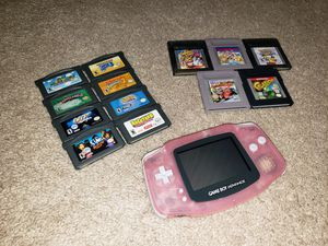 Fushia Nintendo Gameboy Advance w/ 13 games for Sale in Hampton, VA