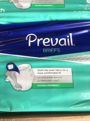 Brand new packages of prevail briefs size small $5 a pack or $150 for all 480pcs for Sale in Long Beach, CA