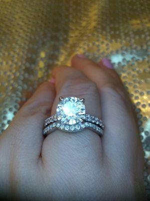 2.50 carat certified platinum gold diamond engagment ring set for Sale in Atlanta, GA