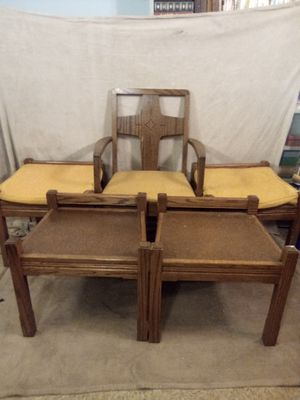 Antique Woerner oak church chairs for Sale in Pittsburgh, PA