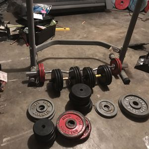 Weights W/ Squat Rack for Sale in San Antonio, TX