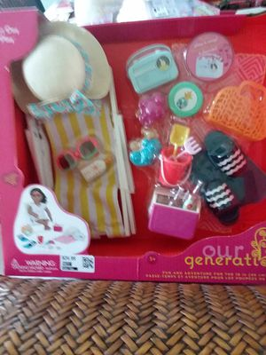 Our Generation New Doll Beach Accessory Set for Sale in Fontana, CA