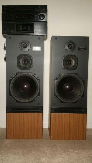 Kenwood Stereo 3 deck system w/2 tower speakers for Sale in San Jose, CA