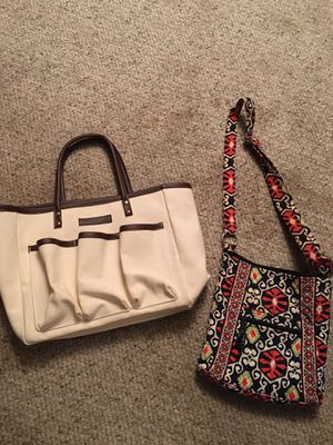 Two tote bags: one is Vera Bradley for Sale in Hinsdale, IL