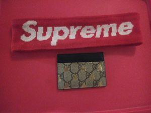 Supreme headband and gucci supreme card holder all for $150 for Sale in Miami, FL