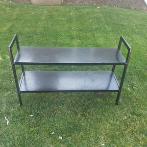 "Black 2 shelf stand. Dimensions 48"" wide x 30"" tall for Sale in Bloomington, IL"