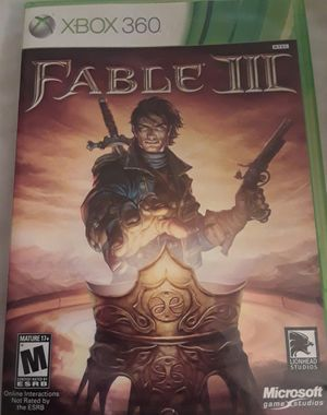 Fable III for XBOX 360! Complete! for Sale in Colorado Springs, CO