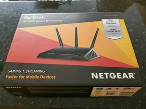 Netgear Nighthawk AC1900 Dual Band Smart WiFi Router R6900-100NAS for Sale in Dana Point, CA