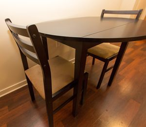 Espresso solid wood kitchen table and chairs for Sale in San Francisco, CA
