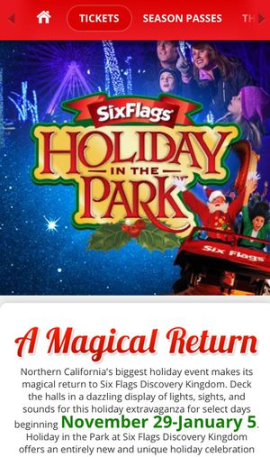 Six flags tickets for Sale in Dublin, OH