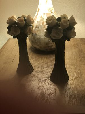 Pink roses candle holders for Sale in Fresno, CA