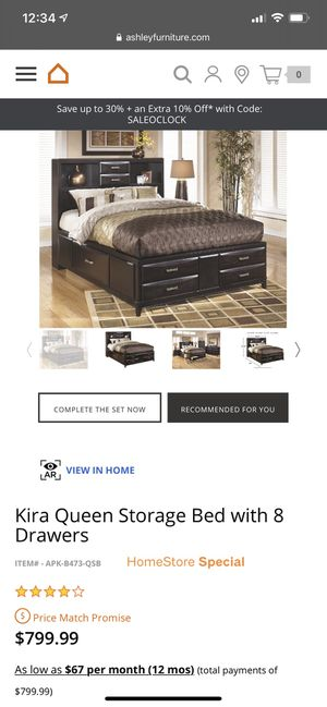 Queen Size 8-drawer Storage Bed Frame for Sale in Great Falls, MT