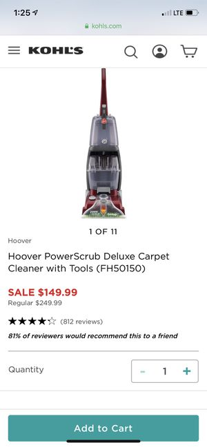 Carpet shampooer like new for Sale in Dana Point, CA