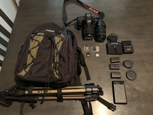 Canon 80d camera with bundle for Sale in San Diego, CA