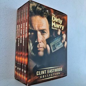 Clint Eastwood Collection Dirt Harry DVD Box set Magnum Force Sudden Impact Dead Pool Enforcer for Sale in Upland, CA