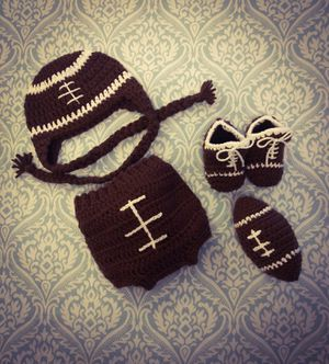Handmade Crochet Baby Football Set for Sale in Orlando, FL