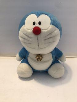 """Doraemon 10"""" Plush Anime Stuffed Cute Vintage Fujiko 1970 w/ Bell for Sale in Carpentersville,  IL"""