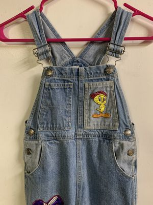 1996 vintage Looney Tunes overalls appear to be for 12 to 15-year-old child. for Sale in Upland, CA