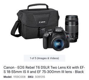 Canon Eos Rebel T6 for Sale in Miami, FL