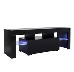 "New 51"" Black TV Stand With LED light - Entertainment Center - TV Cabinet with Storage for Sale in Deerfield Beach, FL"