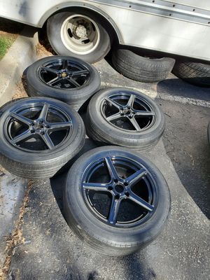 4 18 in 5x120 wheels rims and tires for Sale in Germantown, MD