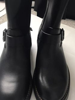 New Men Black Leather Coach Moto Boots 9.5 for Sale in Spring Hill,  TN