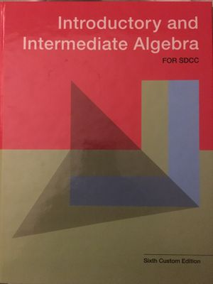 Introductory and Intermediate Algebra for Sale in San Diego, CA