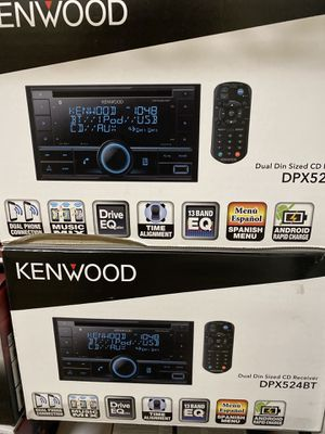 Kenwood DPX524BT Double-DIN In-Dash CD/MP3/USB Bluetooth AM/FM Car Stereo Receiver High Resolution Audio Compatibility for Sale in Los Angeles, CA