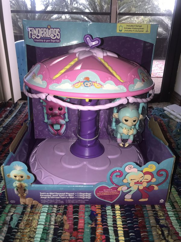 Fingerlings twirl a whirl carousel